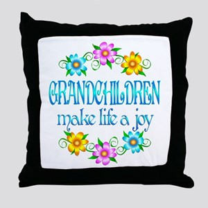 Grandchildren Joy Throw Pillow