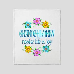 Grandchildren Joy Throw Blanket
