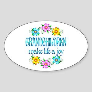 Grandchildren Joy Sticker (Oval)