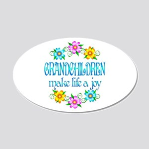 Grandchildren Joy 22x14 Oval Wall Peel