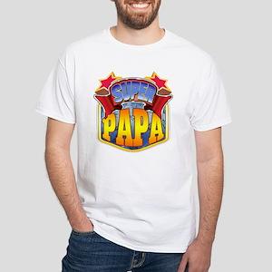 Super Papa White T-Shirt