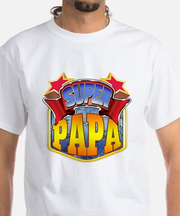 Super Papa White T-Shirt