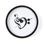 Musical Heart Wall Clock