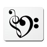 Musical Heart Mousepad
