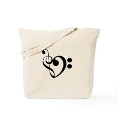 Musical Heart Tote Bag
