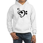 Musical Heart Hooded Sweatshirt