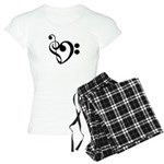 Musical Heart Women's Light Pajamas