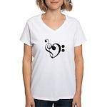 Musical Heart Women's V-Neck T-Shirt