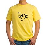 Musical Heart Yellow T-Shirt