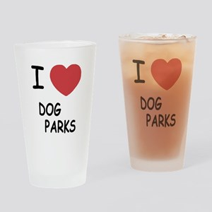 I heart dog parks Drinking Glass