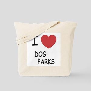 I heart dog parks Tote Bag