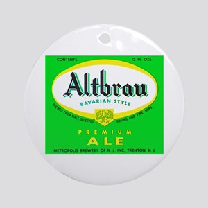New Jersey Beer Label 1 Ornament (Round)