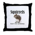 Squirrel Bumps Throw Pillow