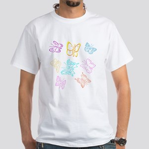 Butterflies White T-Shirt