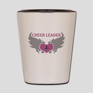 Cheer Leader Heart Shot Glass