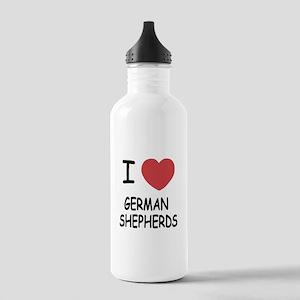 I heart german shepherds Stainless Water Bottle 1.