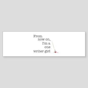 One writer girl Sticker (Bumper)