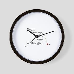 One writer girl Wall Clock