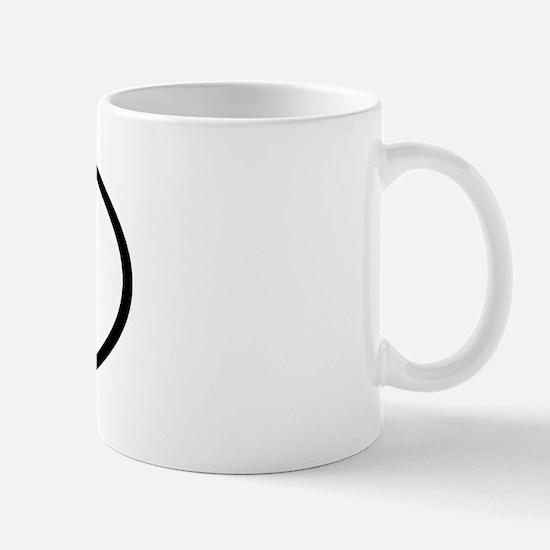 CJ - Initial Oval Mug