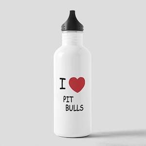 I heart pit bulls Stainless Water Bottle 1.0L