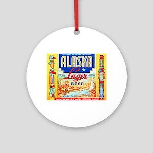 Alaska Beer Label 1 Ornament (Round)
