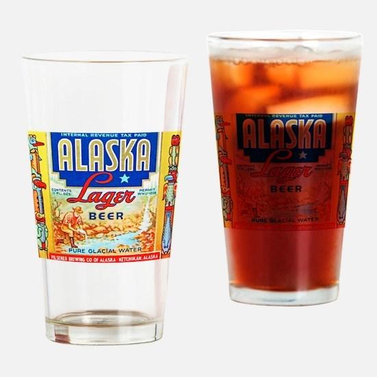 Alaska Beer Label 1 Drinking Glass