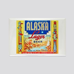 Alaska Beer Label 1 Rectangle Magnet