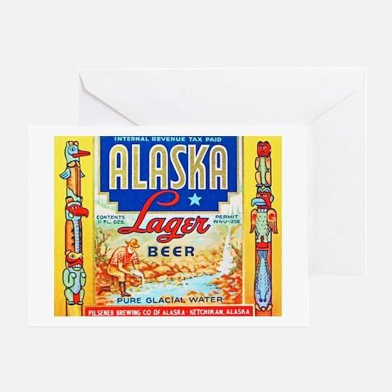 Alaska Beer Label 1 Greeting Card