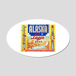 Alaska Beer Label 1 22x14 Oval Wall Peel