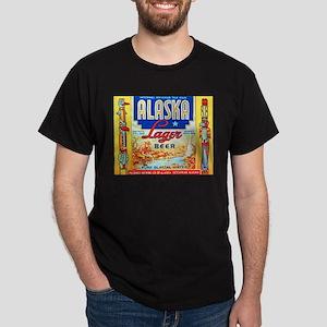 Alaska Beer Label 1 Dark T-Shirt