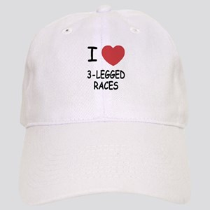 I heart 3-legged races Cap
