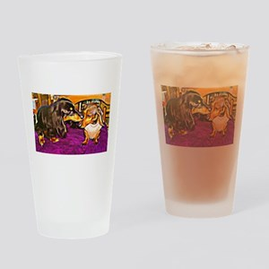 Mini Doxies in Collusion Drinking Glass