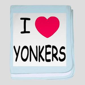 I heart yonkers baby blanket