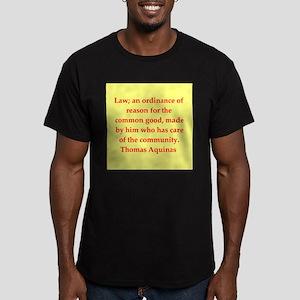 Saint Thomas Aquinas Men's Fitted T-Shirt (dark)