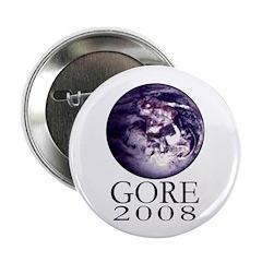 Earth Gore 2008 Campaign Button