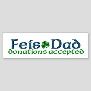 Feis Dad Irish Dance Bumper Sticker