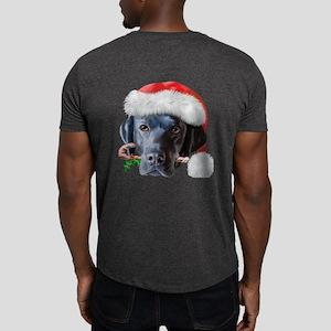 Black Lab Christmas Dark T-Shirt