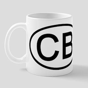 CB - Initial Oval Mug