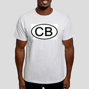 CB - Initial Oval Ash Grey T-Shirt