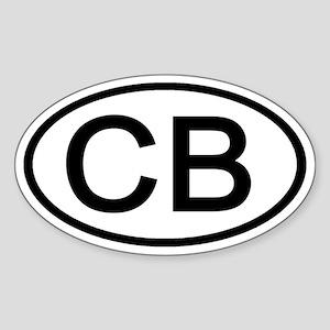 CB - Initial Oval Oval Sticker