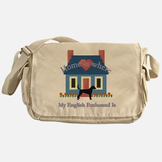 English Foxhound Home Messenger Bag