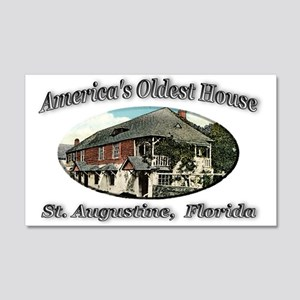 America's Oldest House 22x14 Wall Peel