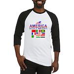 Patriotic America NOI Flags Baseball Jersey