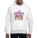 Patriotic America NOI Flags Hooded Sweatshirt