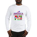 Patriotic America NOI Flags Long Sleeve T-Shirt