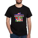 Patriotic America NOI Flags Black T-Shirt