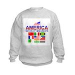 Patriotic America NOI Flags Kids Sweatshirt