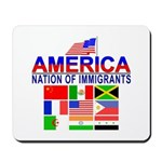 Patriotic America NOI Flags Mousepad