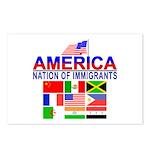 Patriotic America NOI Flags Postcards (Package of