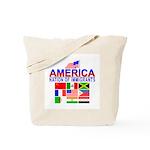 Patriotic America NOI Flags Tote Bag